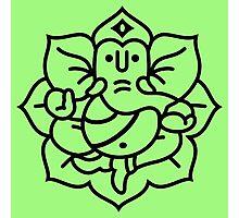 Ganesh Ganesa Ganapati 2 (black outline) Photographic Print