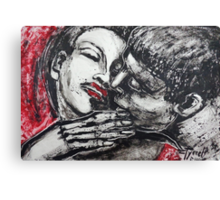 Lovers - Just A Kiss Canvas Print