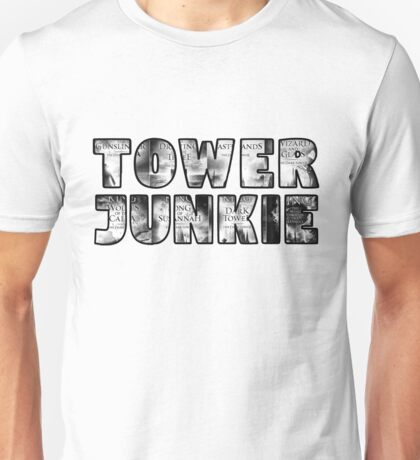 Tower Junkie Black and White Unisex T-Shirt