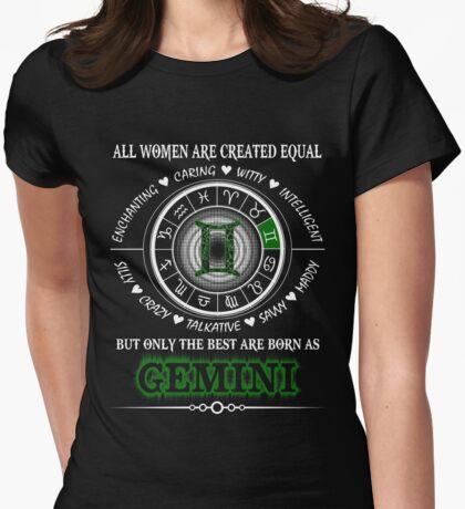 Happy GEMINI Womens Fitted T-Shirt