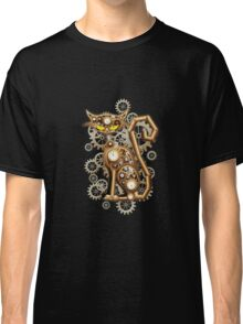 Steampunk Cat Vintage Copper Toy Classic T-Shirt