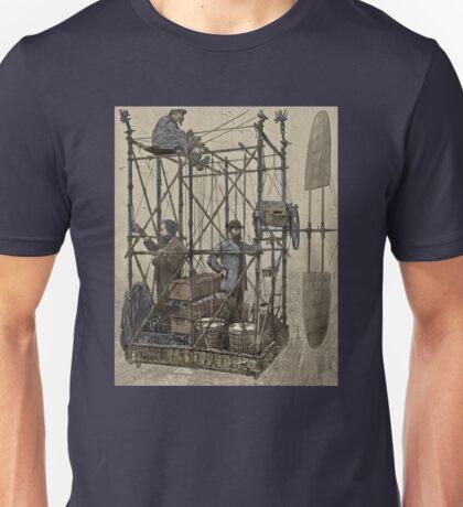 Inventors Flying Over Paris Unisex T-Shirt