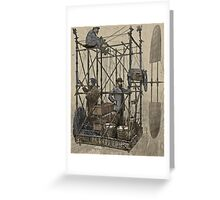 Inventors Flying Over Paris Greeting Card