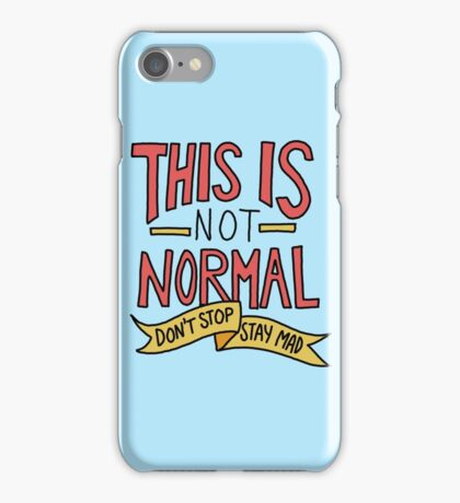 This is normal trump clinton election democrat liberal protest politics iPhone Case/Skin