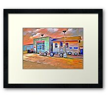 Old Gas Station Framed Print