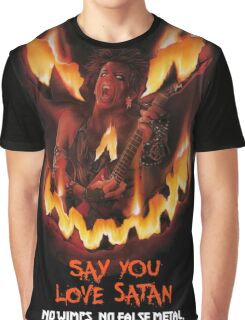 Say You Love Satan 80s Horror Podcast - Trick or Treat Graphic T-Shirt
