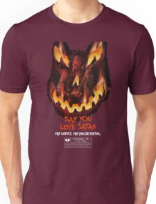 Say You Love Satan 80s Horror Podcast - Trick or Treat Unisex T-Shirt