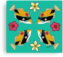 Humu Flowers Canvas Print
