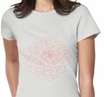 Pink Dahlia Womens Fitted T-Shirt