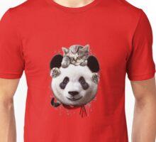 CAT ON PANDA Unisex T-Shirt