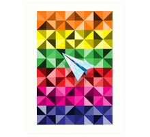 Paper Airplane 68 Art Print