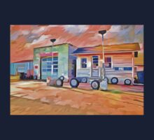 Old Gas Station One Piece - Short Sleeve