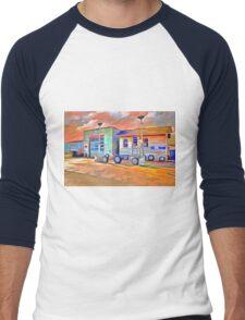 Old Gas Station Men's Baseball ¾ T-Shirt