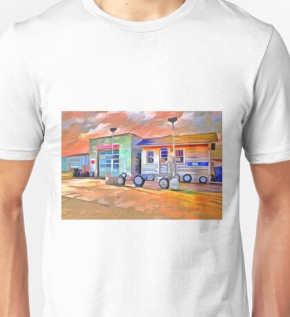 Old Gas Station Unisex T-Shirt