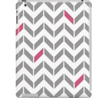 Pink & Gray Herringbone iPad Case/Skin