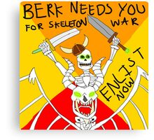 Berk joins the Skeleton War Canvas Print