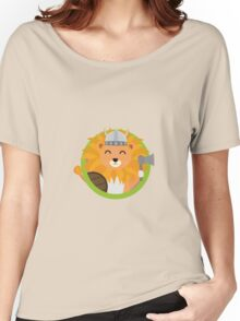 Viking lion with circle Women's Relaxed Fit T-Shirt