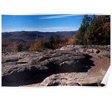 Autumn high upon mountain summit Poster