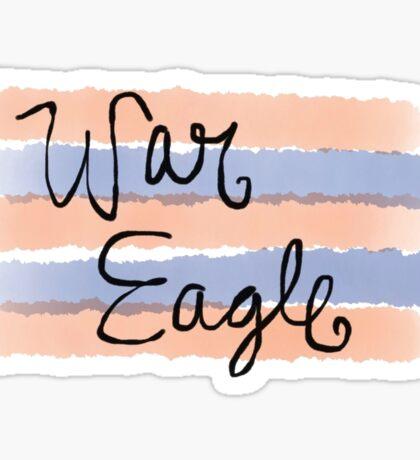 war eagle in watercolor  Sticker