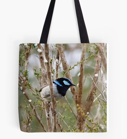 Superb Blue Wren, male and female - Malurus cyaneus Tote Bag