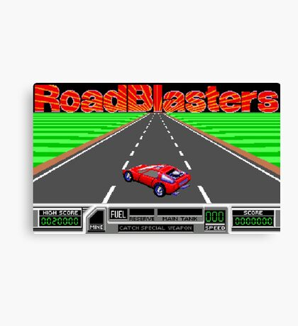 RoadBlasters (NES Title Screen) Canvas Print