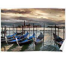 Italy. Venice. St Giorgio Maggiore. Sunrise. Poster