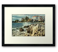 On the coast Framed Print