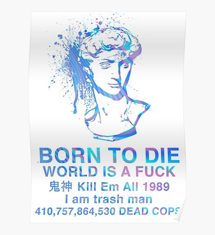Born to Die / World is a Fuck (Holographic) Poster