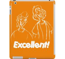 Bill and Ted - Group 04 - Excellent - White Line Art iPad Case/Skin