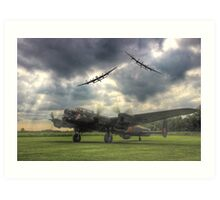 The Prince`s Break - The 3 Lancasters East Kirkby - HDR Art Print
