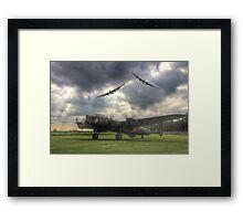 The Prince`s Break - The 3 Lancasters East Kirkby - HDR Framed Print
