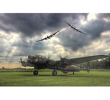 The Prince`s Break - The 3 Lancasters East Kirkby - HDR Photographic Print