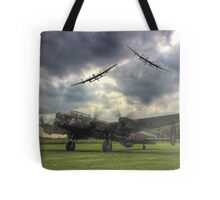 The Prince`s Break - The 3 Lancasters East Kirkby - HDR Tote Bag