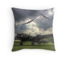 The Prince`s Break - The 3 Lancasters East Kirkby - HDR Throw Pillow