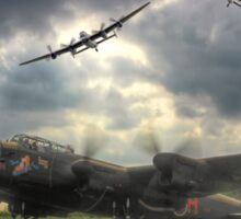 The Prince`s Break - The 3 Lancasters East Kirkby - HDR Sticker