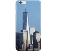 Twilight View of Lower Manhattan Skyline, New World Trade Center, New York City iPhone Case/Skin