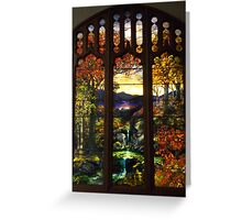 Tiffany Glass, Metropolitan Museum of Art, New York City Greeting Card