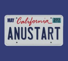 Anustart License Plate by Romantically