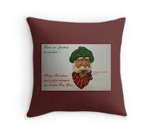 Western Christmas . Funny. Throw Pillow