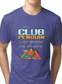 Club Penguin Panda / Broads in Atlanta  Tri-blend T-Shirt