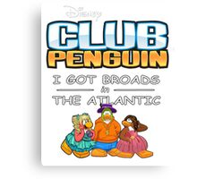 Club Penguin Panda / Broads in Atlanta  Canvas Print