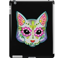 Cat in Grey - Day of the Dead Sugar Skull Kitty iPad Case/Skin