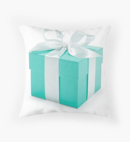 Tiffany Box Throw Pillow