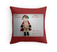 Funny Santa Throw Pillow