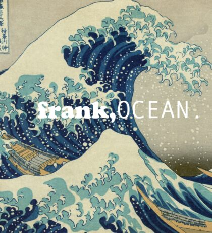 A Great Wave meets Frank Ocean Sticker