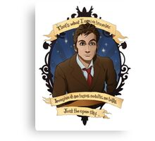 10th Doctor - Doctor Who Canvas Print