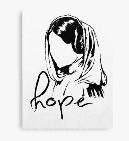 "Princess Leia ""hope"" Canvas Print"