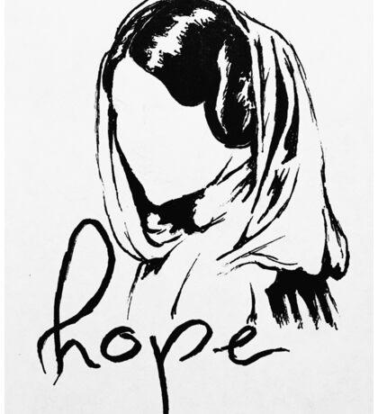 """Princess Leia """"hope"""" Sticker"""
