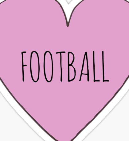 Football Love Sticker