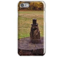 Ground hog with top hat iPhone Case/Skin